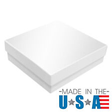Glossy White Cotton Filled Gift Boxes Jewelry Cardboard Box Lots of 100~200~500