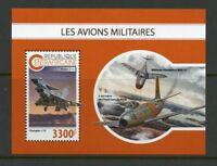 CENTRAL AFRICA 2018  MILITARY AIRPLANES   SOUVENIR SHEET MINT NH