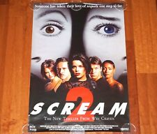 ORIGINAL MOVIE POSTER SCREAM 2 1997 UNFOLDED SS ONE SHEET WES CRAVEN