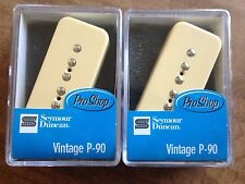 Seymour Duncan Vintage P-90 Pickup Set with Creme Covers SP90-1n and SP90-1b New