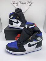 Nike Air Jordan 1 Retro High OG size 8. White Blue Black. Royal Toe 555088-041