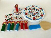 Melissa & Doug Wooden 33 pc LOT Happy Birthday Party Cake Candles Pretend Play