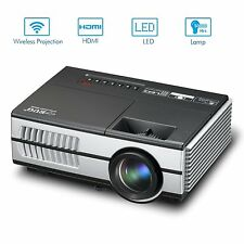 1500lumens Pico Mini Projector 1080p WiFi Home Theater DVD Online TV Movie Night