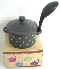 Scodelle da cucina in ceramica grigia