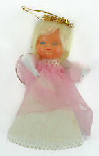 new listingvintage hand made sleeping angel fabric doll christmas ornament - Handmade Angels Christmas Decorations
