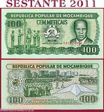 MOZAMBIQUE MOZAMBICO - 100 METICAIS 16.6. 1989 - Prefix AA - P 130c - FDS / UNC