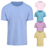 AWDis Just T's Unisex Surf Plain Pastel Short Sleeved Crew Neck T-Shirt Tee Top