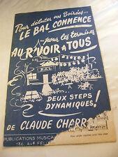 Partition LeBal Commence Au r'voir à tous Claude Charron