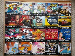 20 x JOB LOT of PAL PlayStation 1 PS1 GAMES INSTRUCTION MANUAL BOOKLET BUNDLE *A