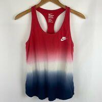 Nike Athletic Cut Womens M Ombre Sleeveless Racerback Tank Top Running - shrunk!