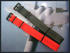 20mm 22mm Dark Grey Orange PVD NATO G10 nylon watch band strap 2 pak IW SUISSE