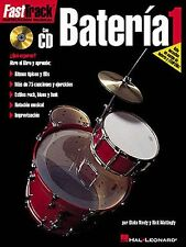 Fast Track Bateria 1 Learn to Play Drum Drummer Spanish Music Book & CD