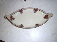 RS GERMANY Prussia Porcelaine China Floral Relish Celery Tray Oval Dish