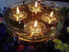 30 GOLD REUSABLE FLOATS 50 LONG BURNING CANDLE WICKS WEDDING TABLE CENTREPIECE