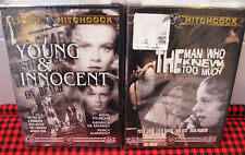 NEW~2 Alfred Hitchcock Classic DVD`s~The Man Who Knew Too Much~Young & Innocent!