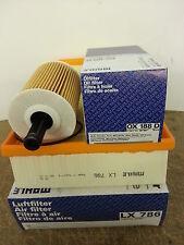 VW TRANSPORTER CARAVELLE T5 1.9 TDI huile filtre à air véritable MAHLE ox188d lx786