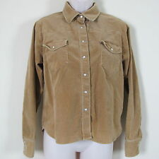 AUSTIN Clothing Co Long Sleeve Corduroy Western Pearl Snap COWGIRL Shirt Size M