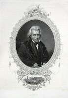7th President ANDREW JACKSON Old Hickory Hermitage ~ 1846 Art Print Engraving