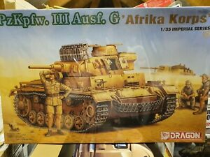 """Dragon 1:35 Pzkpfw III Ausf G """"AFRIKA CORPS"""" German WWII Panzer - #9032 - Sealed"""