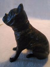 Antique Cast Iron Boxer/Bulldog Still Penny Bank Early 1900's Hubley/AC Williams