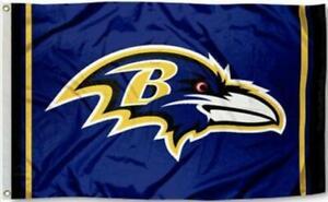 Ravens Flag 3X5 Baltimore Raven Banner American Football Fast USA Shipping New
