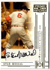 2005 Donruss Playoff Prime Patches STAN MUSIAL Auto Autograph Card #86 Cardinals
