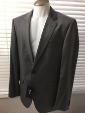 NEW HUGO BOSS 3 PIECE SUIT, 40 L SOLID GRAY