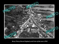 OLD LARGE HISTORIC PHOTO OF BOVEY TRACEY ENGLAND, AERIAL VIEW OF TOWN c1930 3
