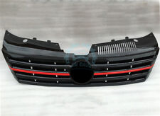 High Quality Auto Part Black Grille With Red Strip Fit For Volkswagen CC 2013-16