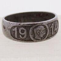 Patriotic Ring WWI Franz Joseph I 1914