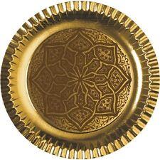 """90 Pappteller rund Ø 29 cm gold """"Ornament"""" Party Einwegteller"""