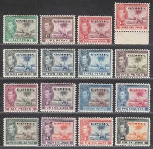 Gambia 1938-46 King George VI and Elephant Part Set to 10sh Mint cat £170