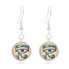 Eye of Horus glass Frea Earrings Art Photo Tibet silver Earring Jewelry #154