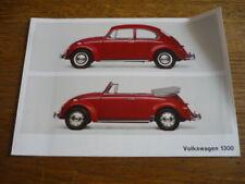 VW VOLKSWAGEN BEETLE 1300 COLOURS BROCHURE.