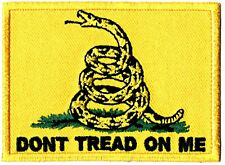 ⫸ DON'T TREAD ON ME Gadsden FLAG Embroidered Patch Iron-on New Trump NRA Dont F