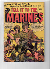 TELL IT TO THE MARINES #1 - Grade 4.5 - Golden Age War Stories!