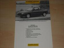 49835) Karmann Ford Escort Cabrio Prospekt 199?