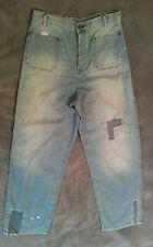 "BNWT Ladies ALLSAINTS rare WIDE LEG ""SUE"" jeans W28 deep crutch vintage style"
