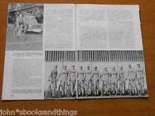1961 MILANO - SANREMO CORSA CICLISMO CLASSICA EPOCA ANNI 60 ITALIANO SQUADRE
