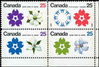 Canada Mint VF Scott #511b Block of 4 25c 1970 Expo'70 Stamps Never Hinged