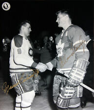 Maurice Richard & Allan Stanley Signed 8x10 - MTL Canadiens, TO Maple Leafs