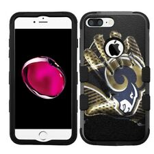 for iPhone 8 Plus Rugged Rubber+Hard Hybrid Case Los Angeles LA Rams #Glove