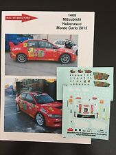DECALS 1/43 MITSUBISHI LANCER NOBERASCO RALLYE MONTE CARLO 2013 RALLY WRC