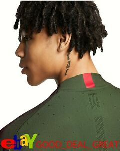 """2020 Tiger Woods TW Dotted Mock Air Shirt CT6078-222 Medium """"Zoom to See Fabric"""""""