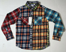 Brand New- Uniqlo Kids Checkered Button Front Shirt Boys (Size 9-10)