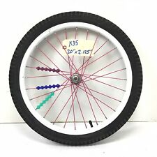 """Complete 20"""" Front White Bicycle Wheel with 2.125"""" Tire - Bmx Bike #k35"""