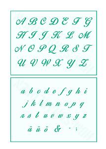 Buchstaben groß 2,5cm oder passendes Alphabet klein Schablone Schreibschrift