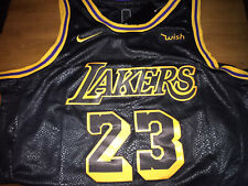 LeBron James los Angeles La Lakers Black Mamba Cosido Jersey Nike #23 pequeñas