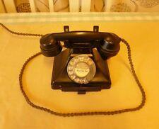 ART DECO PYRAMID BAKELITE TELEPHONE + BELL 232 ~ VINTAGE ORIGINAL 1920s