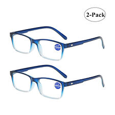 2x Gradient Reading Glasses Mens Womens Unisex Reader 1.0 1.5 2.0 2.5 3.0 3.5 4.
